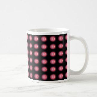 LED rojo en la taza negra