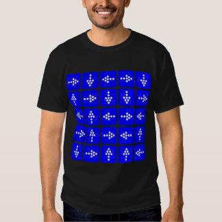 LED Style Arrows - Blue T-Shirt