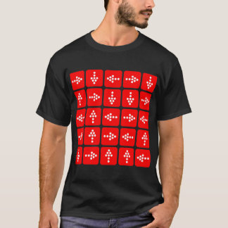 LED Style Arrows - Red T-Shirt