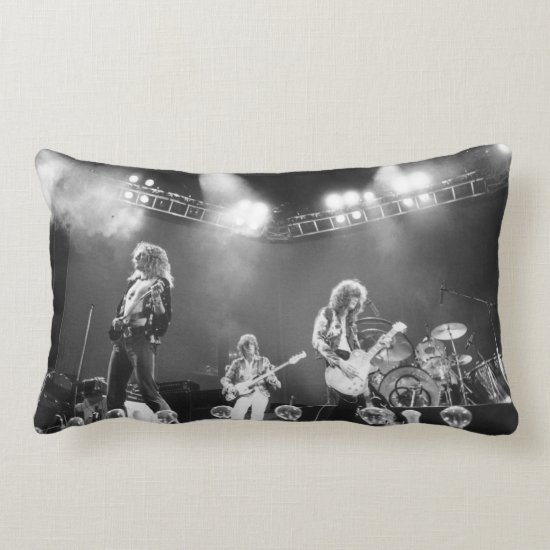 Led Zeppelin   On Stage Lumbar Pillow