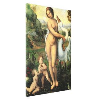 Leda and the Swan by Leonardo da Vinci Canvas Print