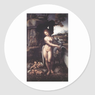 Leda and the Swan Classic Round Sticker