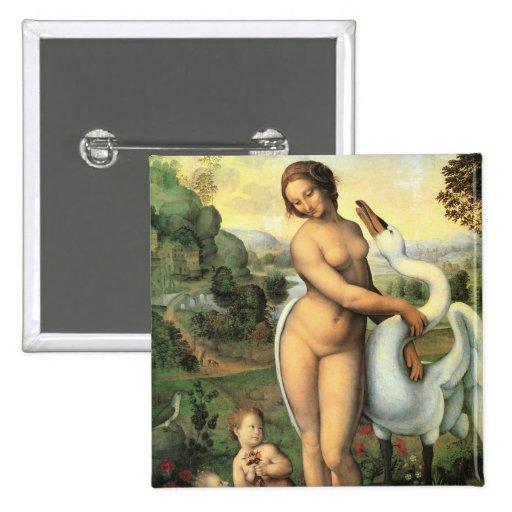 Leda y cisne de Leonardo da Vinci, renacimiento Pin
