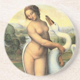 Leda y el cisne de da Vinci Posavasos Diseño