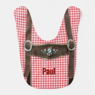 Lederhosen bávaros (personalizable) babero para bebé