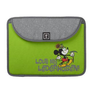 Lederhosen de Yodelberg Mickey el | Fundas Macbook Pro