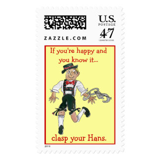 Lederhosen Happy Octoberfest Postage Stamps