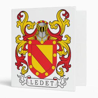 Ledet Family Crest 3 Ring Binder