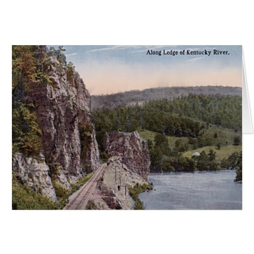 Ledge Along the Kentucky River Greeting Cards