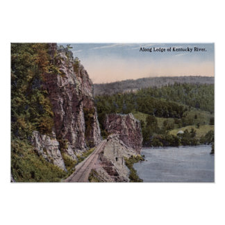 Ledge along the Kentucky River Posters