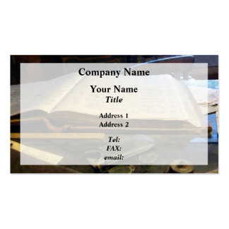 Ledger and Eyeglasses Business Card