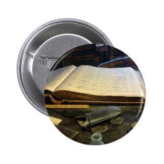 Ledger and Eyeglasses Pin