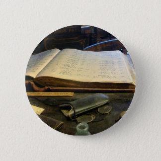 Ledger and Eyeglasses Pinback Button