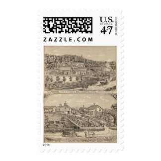 Ledgeside and Glen Dale, farms and residences Postage