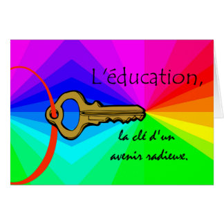 L'education, Education Teacher Appreciation French Card