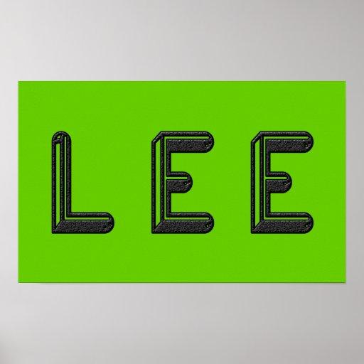 LEE Alphabet Letter Name Art Print