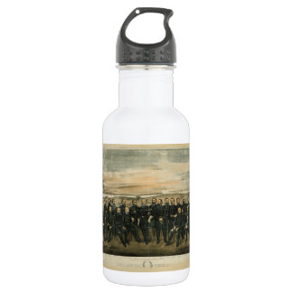 Lee And His General by Americus Patterson (1904) Stainless Steel Water Bottle