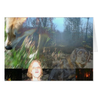 Lee Ann & Ghost Dog: A Collage Greeting Card