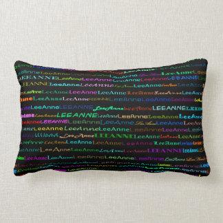 Lee-Anne Text Design I Lumbar Pillow