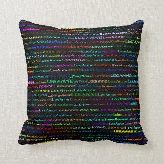Lee-Anne Text Design I Throw Pillow