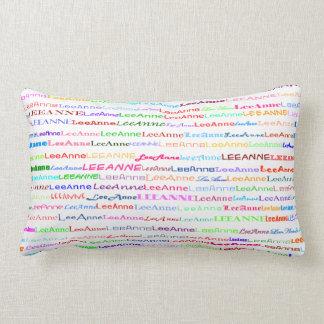Lee-Anne Text Design II Lumbar Pillow