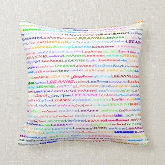 Lee-Anne Text Design II Throw Pillow