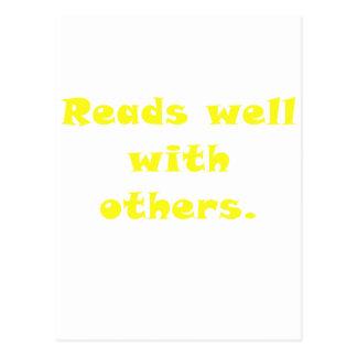 Lee bien con otros tarjetas postales