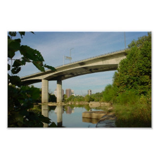 Lee Bridge Reflection in James River Poster