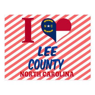 Lee County, North Carolina Postcard