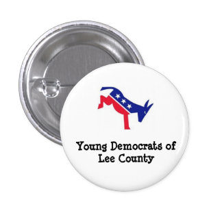 Lee County Young Democrats 1 Inch Round Button