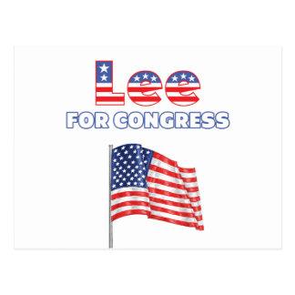 Lee for Congress Patriotic American Flag Design Postcard