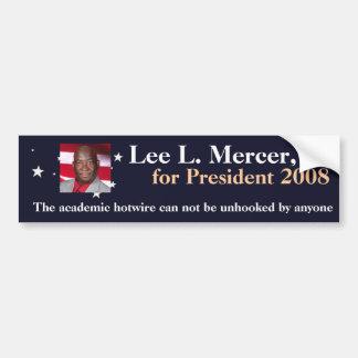 Lee L. Mercer, Jr. para el presidente 2016 Etiqueta De Parachoque