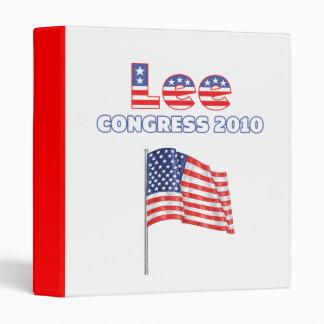 Lee Patriotic American Flag 2010 Elections Vinyl Binders