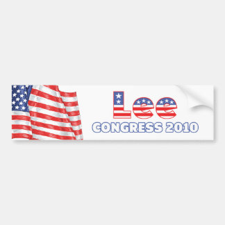 Lee Patriotic American Flag 2010 Elections Bumper Sticker