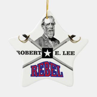 Lee purple rebel ceramic ornament