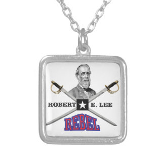 Lee purple rebel silver plated necklace