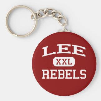 Lee - rebeldes - High School secundaria de Lee - M Llavero Redondo Tipo Pin
