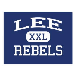 Lee - Rebels - Junior - San Angelo Texas Postcard