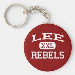 Lee - Rebels - Lee High School - Midland Texas Basic Round Button Keychain