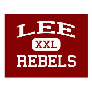 Lee - Rebels - Lee High School - Midland Texas Postcard