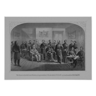 Lee Surrendering At Appomattox -- Civil War Poster