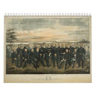 Lee y su general de Americus Patterson (1904) Calendario De Pared