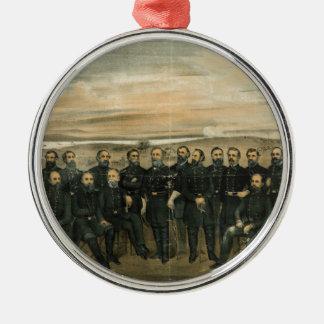 Lee y su general de Americus Patterson (1904) Adorno Redondo Plateado