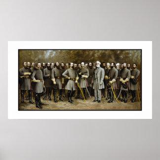 Lee y sus generales póster