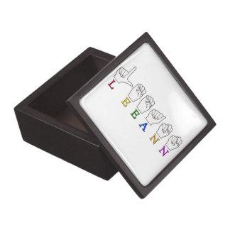 LEEANN LEE ANN FINGER SPELLED ASL SIGN NAME JEWELRY BOX