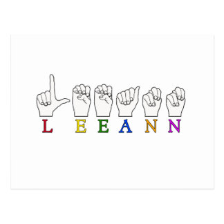 LEEANN LEE ANN FINGER SPELLED ASL SIGN NAME POSTCARD