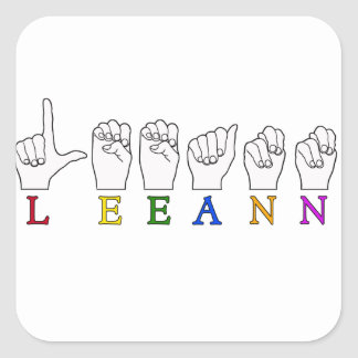 LEEANN LEE ANN FINGER SPELLED ASL SIGN NAME STICKER