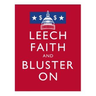 Leech Faith and Bluster On Post Card