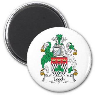 Leech Family Crest 2 Inch Round Magnet