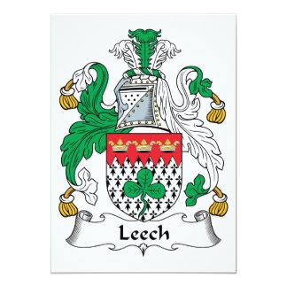 Leech Family Crest 5x7 Paper Invitation Card